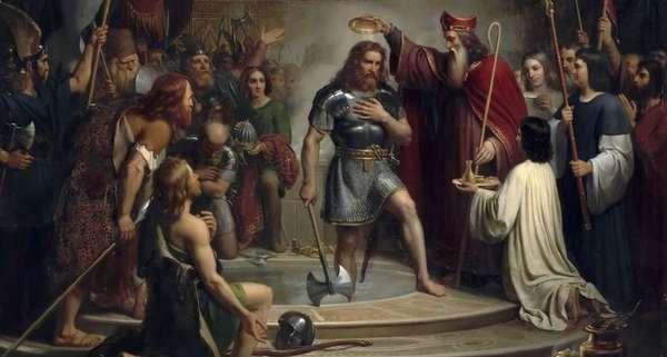 Легендарный король франков Хлодвиг I из династии Меровингов
