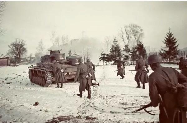 Немецкие войска во время операции Тайфун
