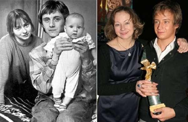Евгения Добровольская с первым мужем и сыном фото