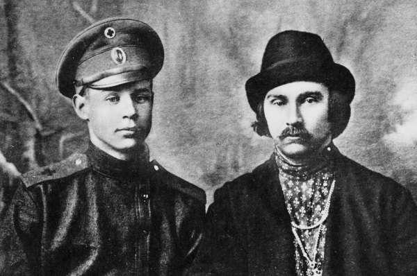 С. Есенин и Николая Клюев