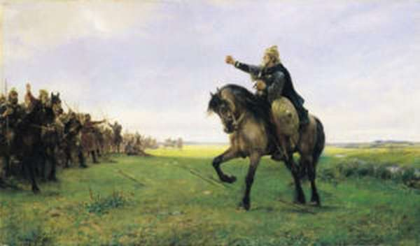 Германарих призывает на бой с гуннами