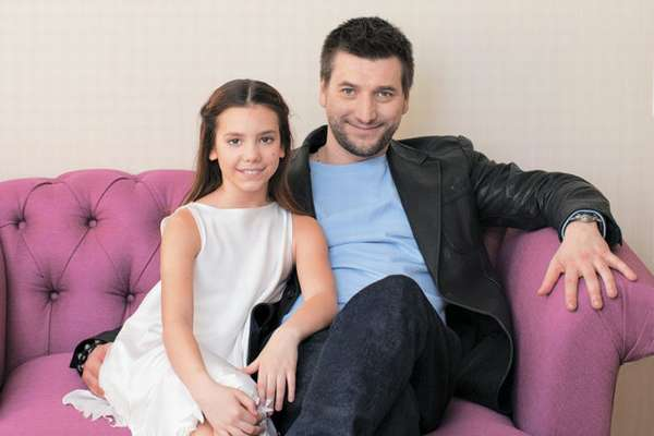 Александр Усюгов с дочкой