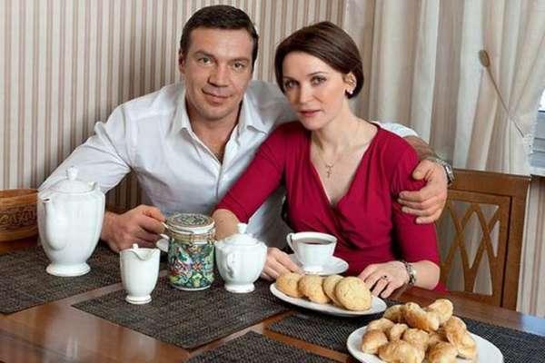Олег Чернов с женой