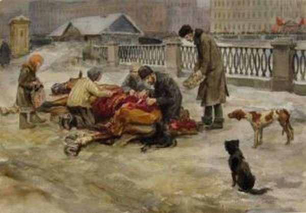Очереди за хлебом в Петрограде 1917 года породили революцию. Но после победы угнетенных очереди стали нормальным явлением нового, революционного, порядка