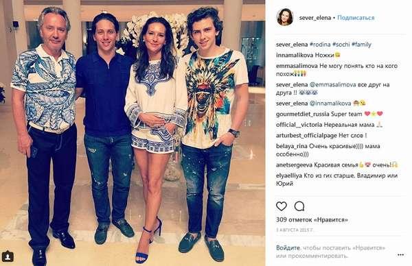 Елена Север с семьей мужем и сыновьями фото