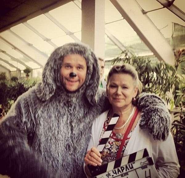 Максим Аверин с мамой
