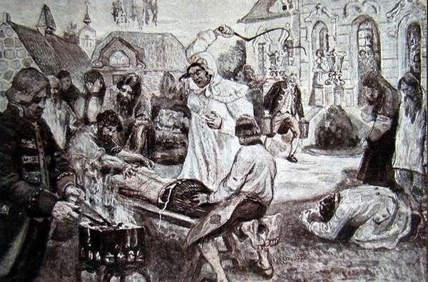 Наказание нерадивого крестьянина