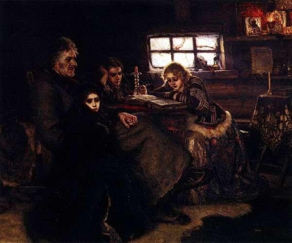 Картина В.И.Сурикова Меншиков в Берёзовске холст, масло. 1883 год