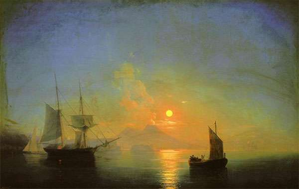И. Айвазовский. Неаполитанский залив в лунную ночь