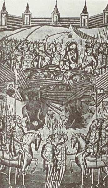 Взятие Киева монголами в 1240 году.