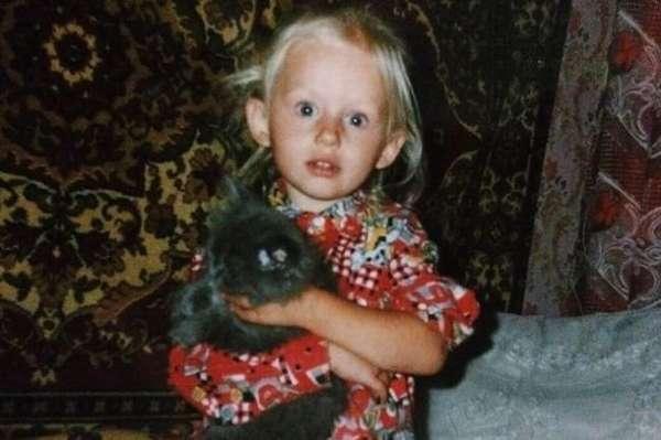 Александра Бортич в детстве
