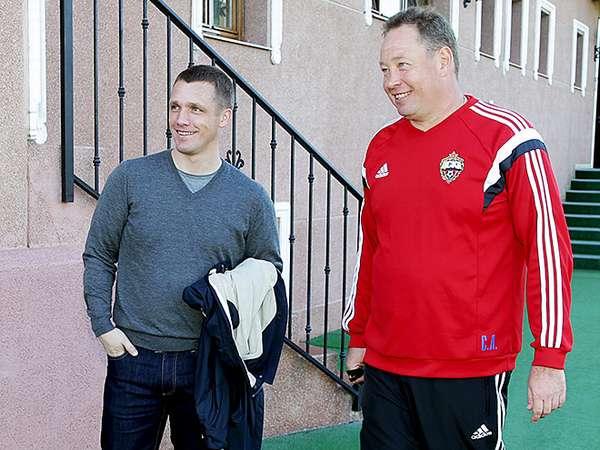 Goncharenko и Слуцкий в ЦСКА фотография