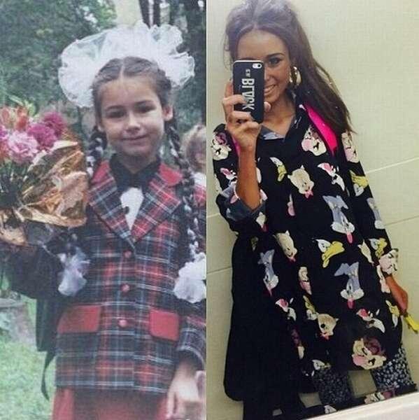 Диана Мелисон в детстве и сейчас фото
