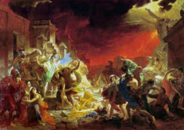 Извержение вулкана Везувий картина