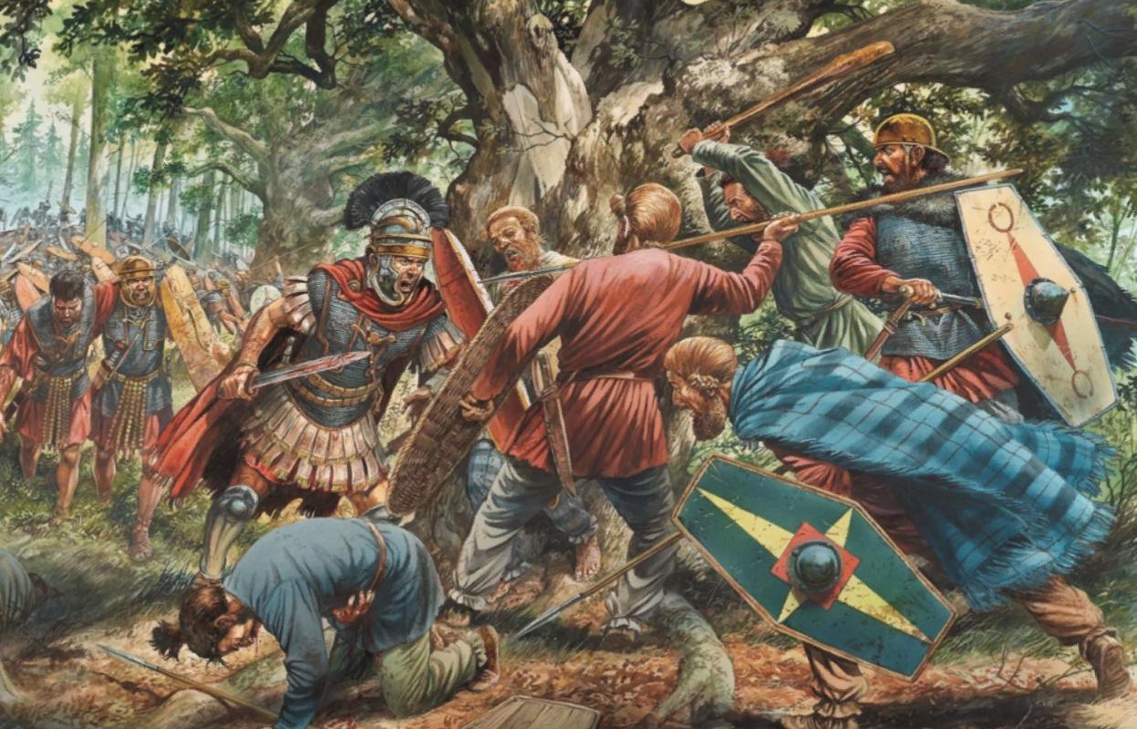 битва германских племен с римлянами