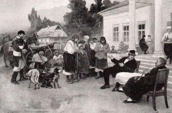 Обмен крестьянской семьи на породистых собак