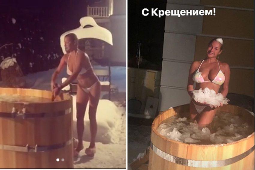 Так много вопросов, так мало купальника Анастасию Волочкову пожурили за откровение в Крещенскую ночь